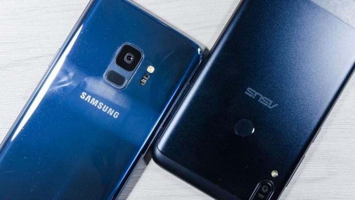 Smartphones For Traveling Samsung Galaxy S9 ASUS ZenFone Max Pro (M1)