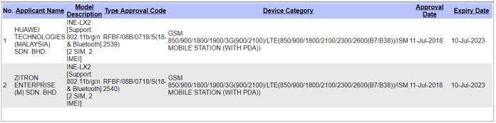 Huawei Nova 3i HiSilicon Kirin 710 SIRIM