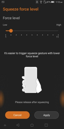 ASUS ROG Phone squeeze via AirTriggers function