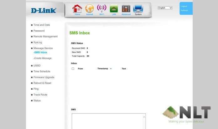 D-Link DWR-953 4G Router Modem software UI
