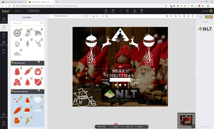 Create Beautiful Christmas Cards with Fotor 4
