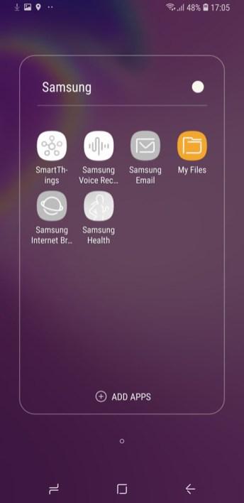 Samsung Galaxy A9 (2018) camera UI