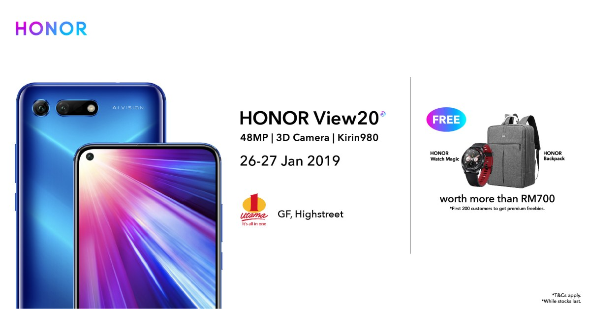 HONOR View20 Roadshow Starts 26th January 2019; Other Devices