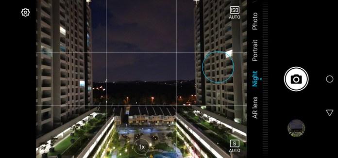 HONOR View20 camera UI
