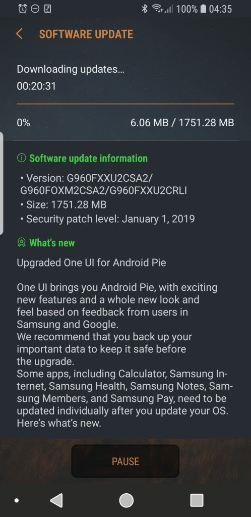 Malaysians: Android 9 0 Pie For Samsung Galaxy S9 Now Available