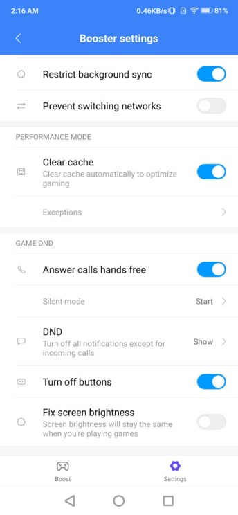 Xiaomi Mi Mix 3 settings menu