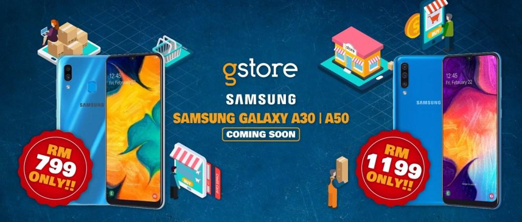 Samsung Galaxy A30 Galaxy A50 Lazada pre-order header