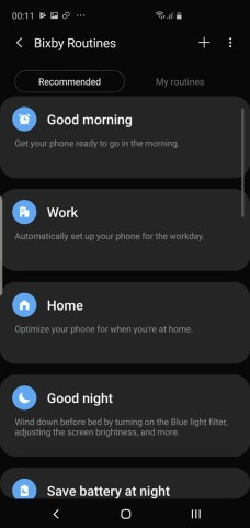 Samsung Galaxy S10 Galaxy S10+ Bixby Routines
