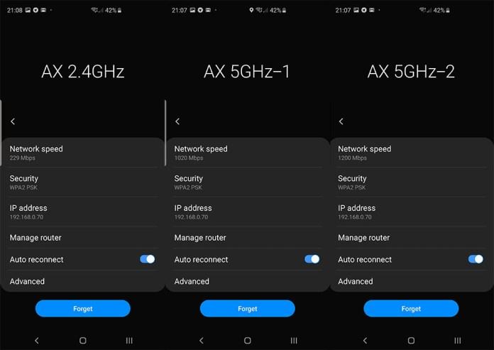 WiFi 6 icon on Samsung Galaxy S10 Galaxy S10+
