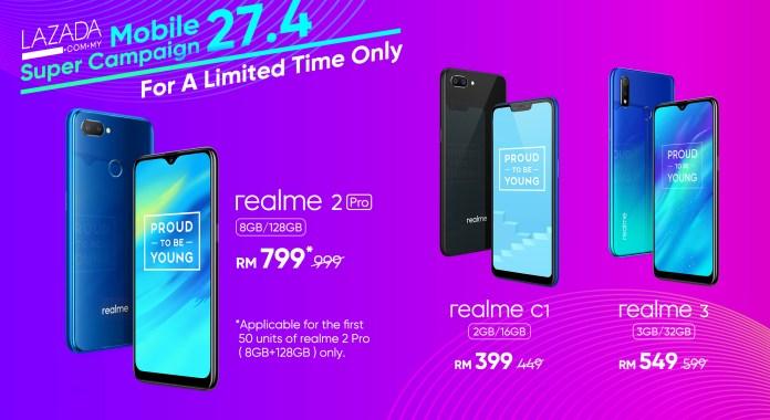 Realme Malaysia Lazada Mobile Super Campaign 2019