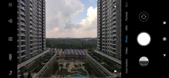 Xiaomi Mi 9 camera UI