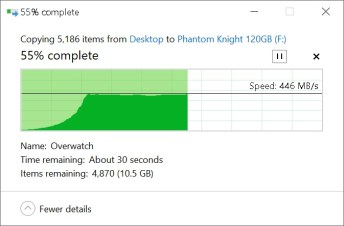 Phidisk PhantomKnight copy from SSD
