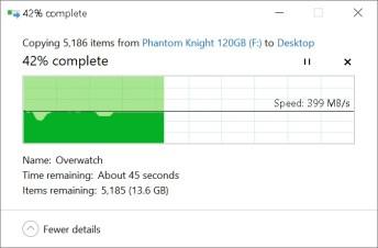 Phidisk PhantomKnight copy to SSD