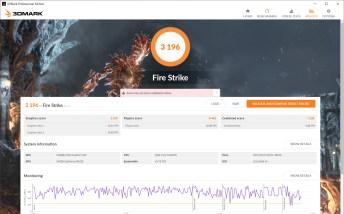 ASUS VivoBook Ultra A512 Firestrike benchmark