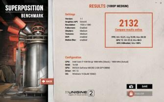 ASUS ZenBook Duo UX481F Unigine Superposition benchmark