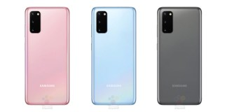 Samsung Galaxy S20 color render leak