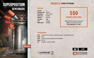 ASUS VivoBook S15 S533 Unigine Supoerposition