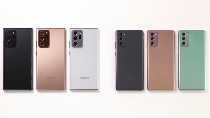 Galaxy Note20 colors