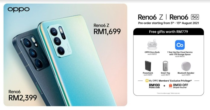 OPPO Reno6 Series Price Gifts