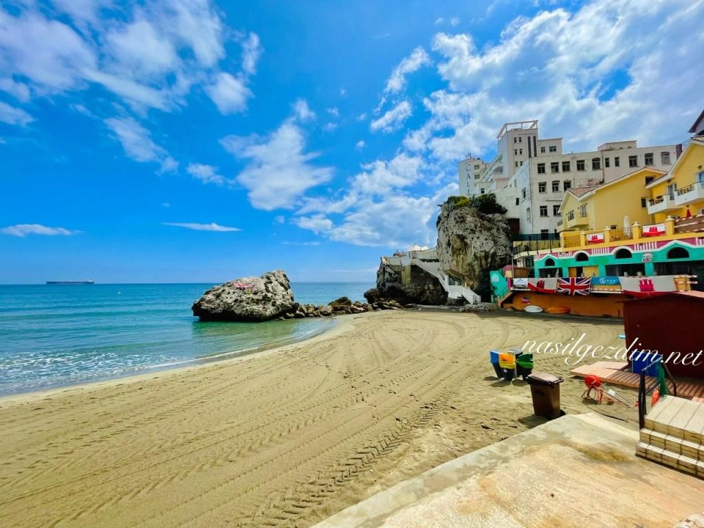 cebelitarık gezilecek yerler, cebelitarık plajları, catalan bay gibraltar