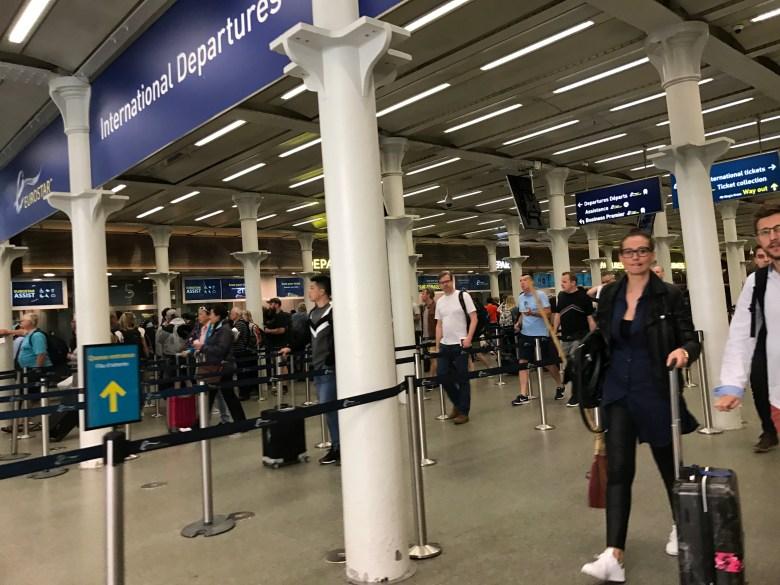 eurostar departures st pancras London