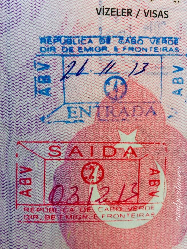 yeşil burun adaları gezi rehberi,yeşil burun adaları vizesi, cape verde passport stamp, yeşil burun adaları pasaport damgası, vizesi gidilen ülkeler