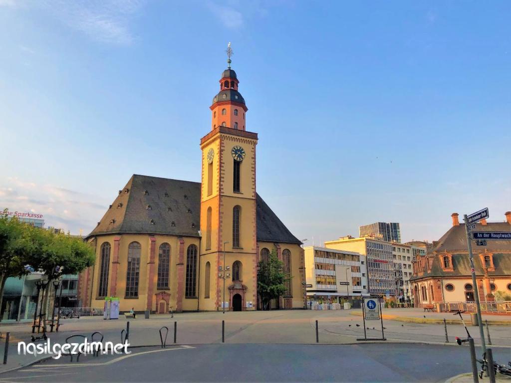 frankfurt gezilecekler yerler, frankfurt gezi rehberi, almanya frankfurt gezilecek yerler, st. catherine's church frankfurt