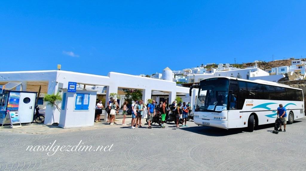 old harbour bus terminal mykonos, mikonos gezi rehberi