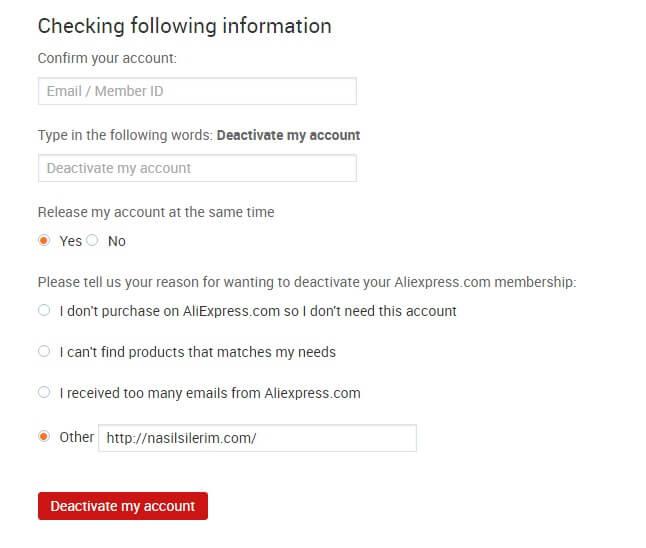 Come Eliminare L'account Aliexpress