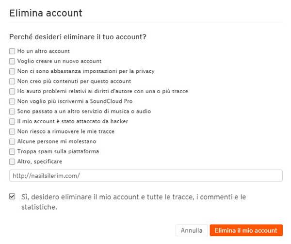 Come Eliminare Un Account Soundcloud
