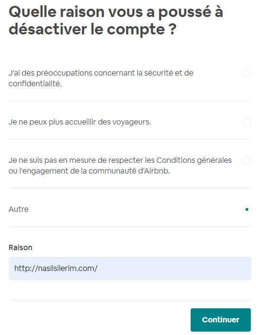 Suppression De Compte Airbnb