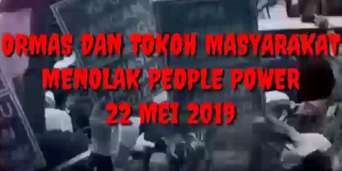 Orams dan Tokoh Agama Tolak People Power