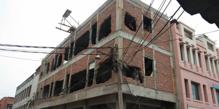 Bangunan setelah dibongkar Kamis (19/9)