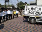 Aksi demo Pemuda Batuceper Tuntut Camat di Copot