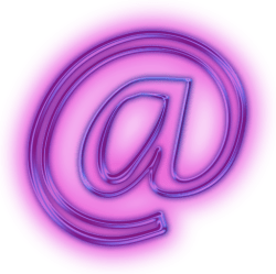 email aesthetic rain purple neon eichner barry marketing icon sign glowing