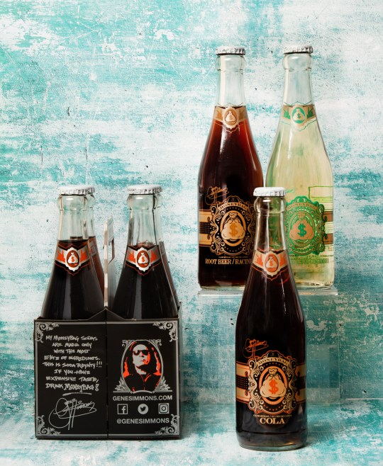 Moneybag, Moneybag soda, Kiss Soda, Gene Simmons soda, specialty soda, pure cane sugar soda