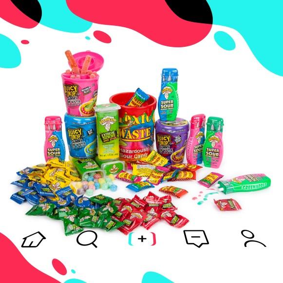 TikTok, TikTok Candy, TikTok treats, sour candy, Toxic Waste Candy, Warheads Candy, Juicy Drops Candy, Juicy Drops TikTok