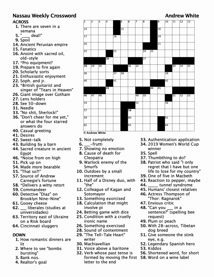 crossword 419