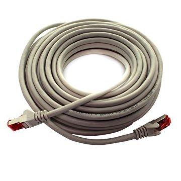 1aTTack CAT6 CAT 6 Netzwerk-Patch-Kabel SET (10 Stück) 0,5m 0,5 Meter - SFTP - doppelt geschirmt PIMF + GEFLECHT - Twisted Pair mit 2 x RJ45 Stecker und vergoldeten Kontaktflächen - grau - 5