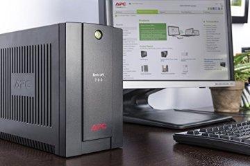 APC Back-UPS BX - Unterbrechungsfreie Stromversorgung 700VA, BX700U-GR (AVR, 4 Schuko Ausgänge, USB) schwarz - 3