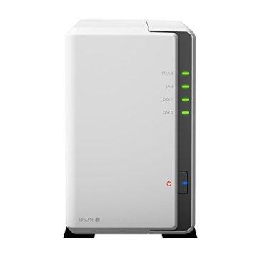 Synology DS216J 2TB (2 x 1TB WD RED) 2 Bay Desktop-NAS-Einheit - 4