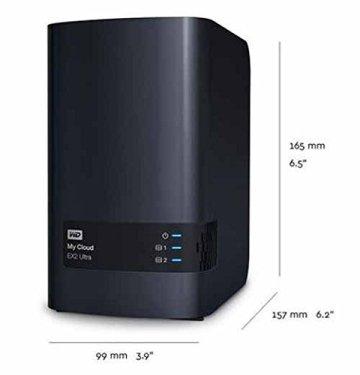 WD My Cloud EX2 Ultra Leergehäuse - Network Attached Storage - 2 Bay NAS - Streamen auf PC, Mobilgeräte, Spielkonsolen, Mediaplayer - WDBVBZ0000NCH-EESN - 6