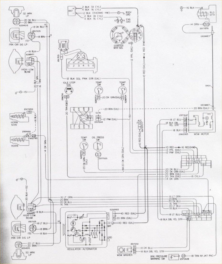 1976 Camaro Engine & Forward Light Wiring Schematic