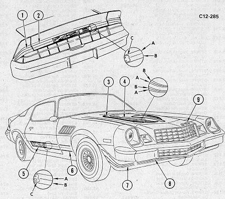 1979 Camaro Engine Diagram Sketch Coloring Page