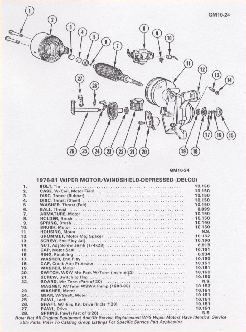 medium resolution of parking wiper motor parts list