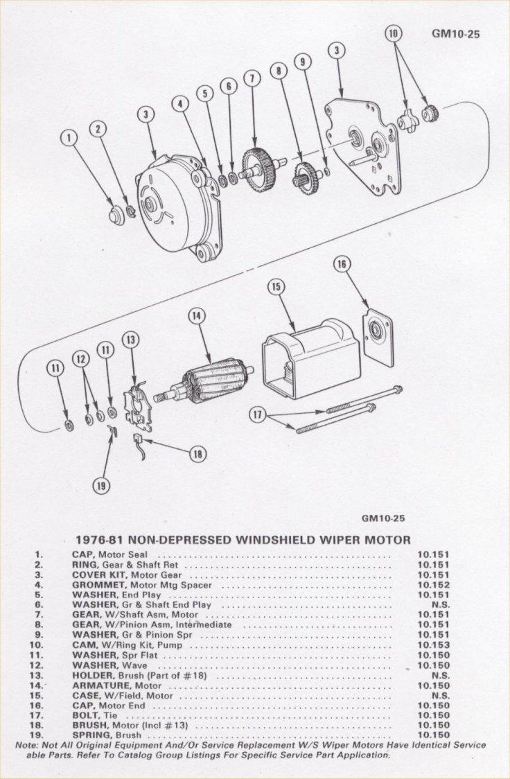 hight resolution of standard wiper motor parts list