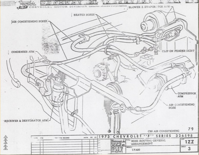 early bronco wiring diagram activity on arrow network camaro air conditioning system information and restoration 1973 underhood layout