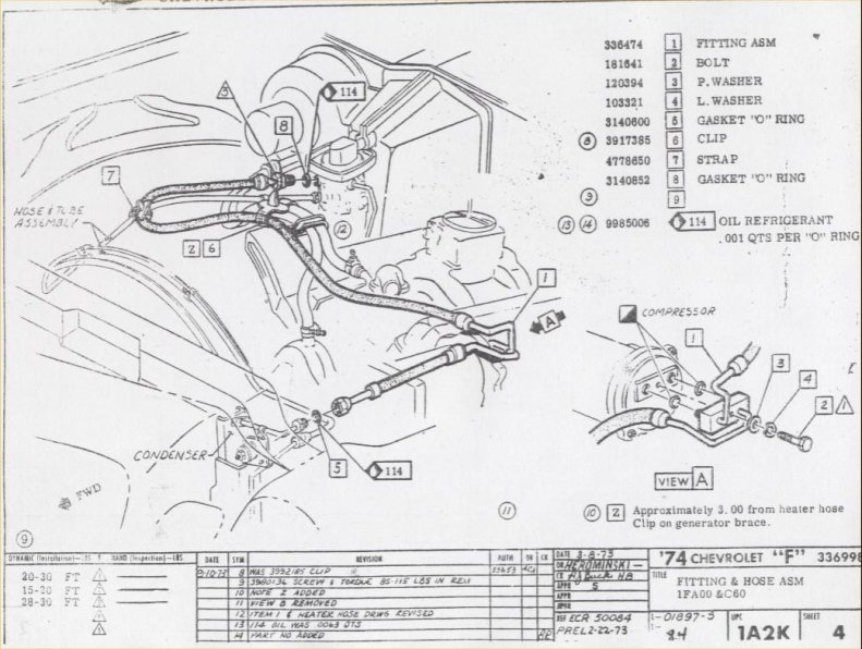 1977 Chevelle Air Conditioning Wiring Diagram, 1977, Get