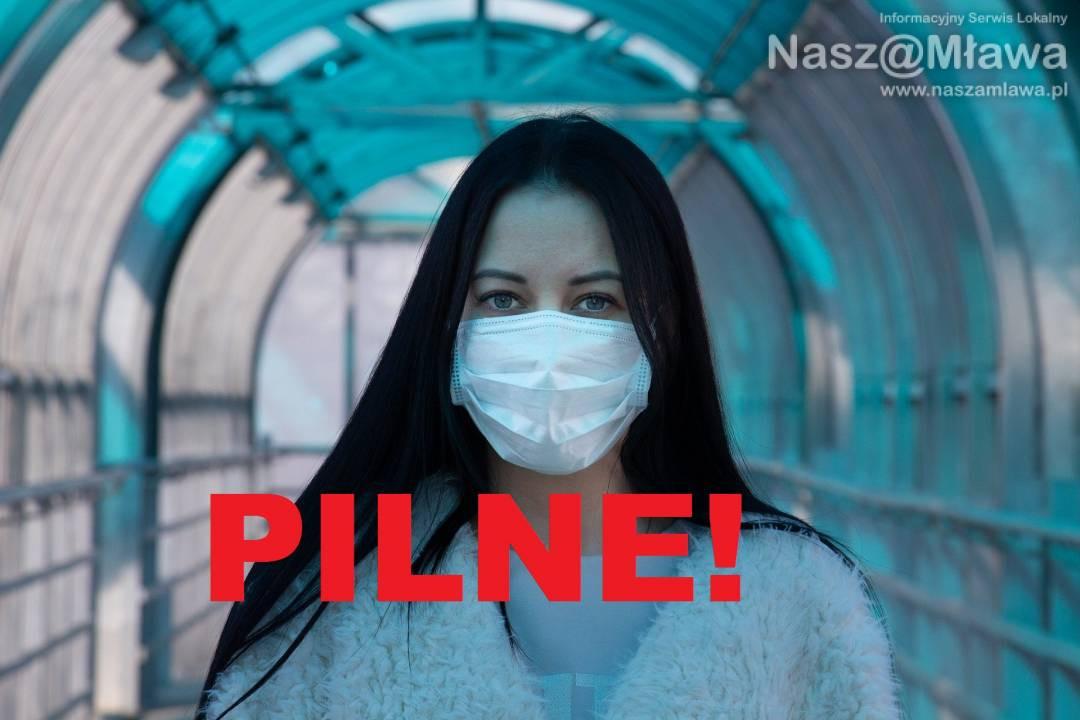 Epidemia. Komunikat sanepidu dla Mławy z 7 kwietnia