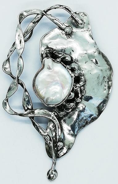 naturalna perła wisior
